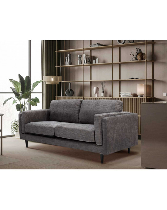 Arturo 3 Division Couch Charcoal Grey
