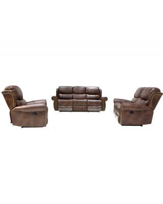 Duke 3pce Lounge Suite Dark Brown