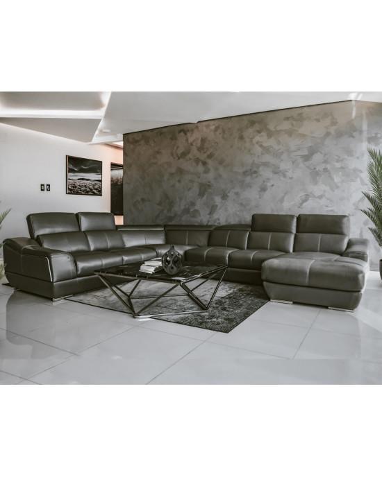 Valeria Corner Suite Dark Grey