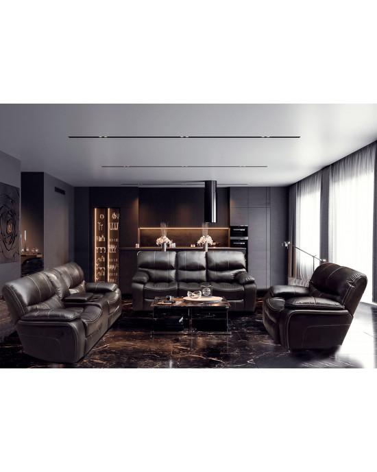 Xena 3 Piece 5 Motion Lounge Suite Brown