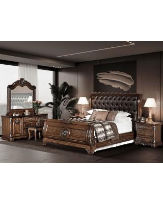 Bella 5 Piece Bedroom Suite  (Queen Size)+ Free Stool