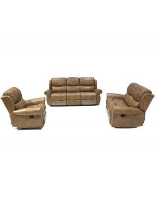 Duke 3pce Lounge Suite Light Brown