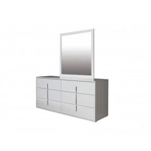 Maya Dresser And Mirror White High Gloss