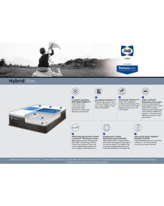 Sealy Hybrid Sage Firm Mattress