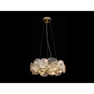 LIT78078-12 Bronze Chandelier