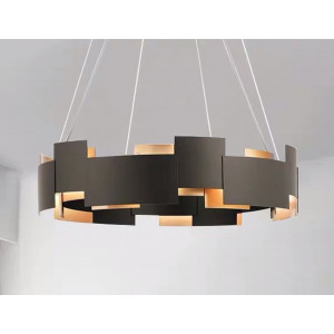 LIT89043-6 Black & Golden Chandelier