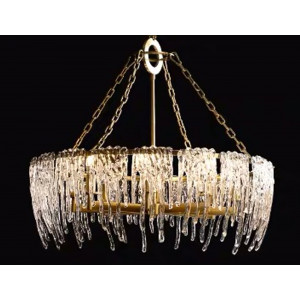 LIT89062/4 Bronze Chandelier