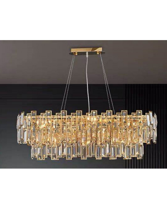 LIT89071-11 Golden Chandelier