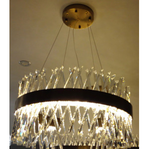 LIT2006/1C LED Pendant Lamp,Metal+Clear Crystal Chandelier