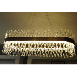 LIT2006/1V LED Pendant Lamp,Metal+Clear Crystal Chandelier