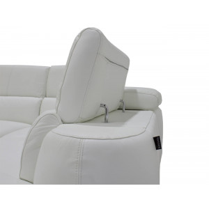 Lugano Chaise Genuine Leather Uppers White