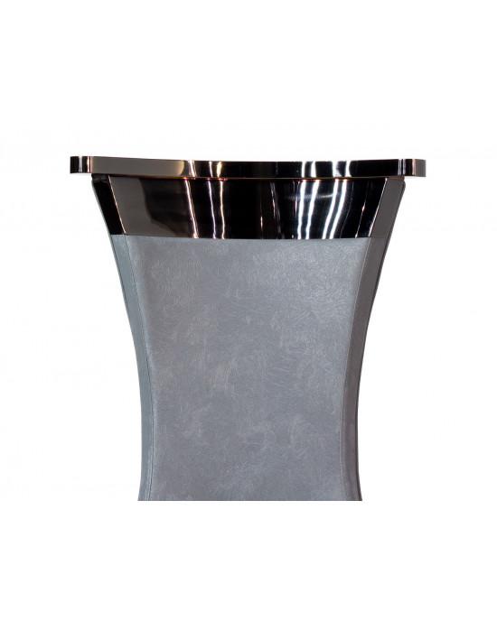 Alyssa Dining Chair Dark Grey With Black Chrome