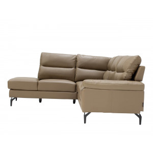 Atlanta Corner Lounge Suite Leather Uppers Taupe