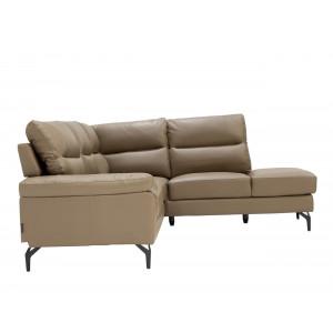 Atlanta Corner Lounge Suite Leather Uppers Taupe RHF