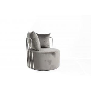 Azania Leisure Chair Grey with Silver Frame