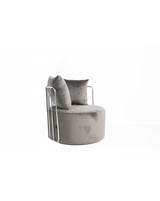 Azania Leisure Chair Grey with Silver Frame
