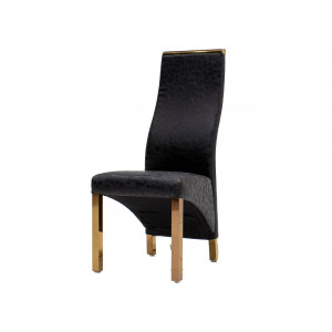 Chanel Dining Chair Black With Rose Gold