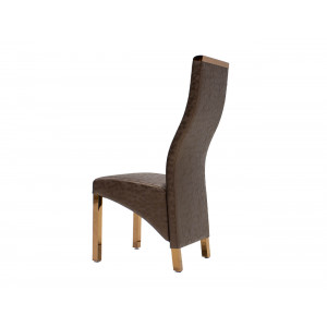 Chanel Dining Chair Brown With Rose Gold