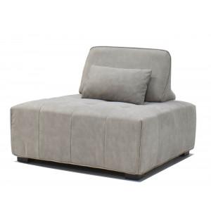 Cube Single Light Grey Leather Air