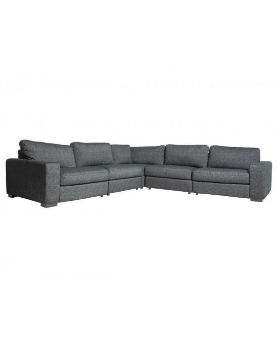 Domino Corner Lounge Suite Anthricite