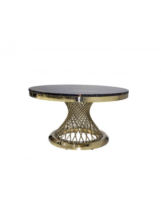 Elite SK2041A Marble Top Coffee Table Gold