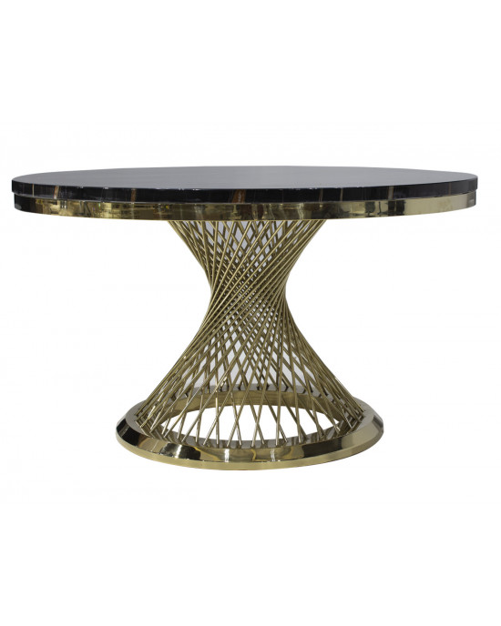 Elite SK2041T Marble Top Dining table Gold