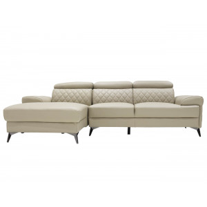 Moscow Full Leather Corner Suite Taupe LHF