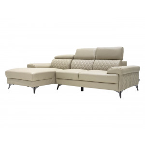 Moscow Full Leather Corner Suite Taupe