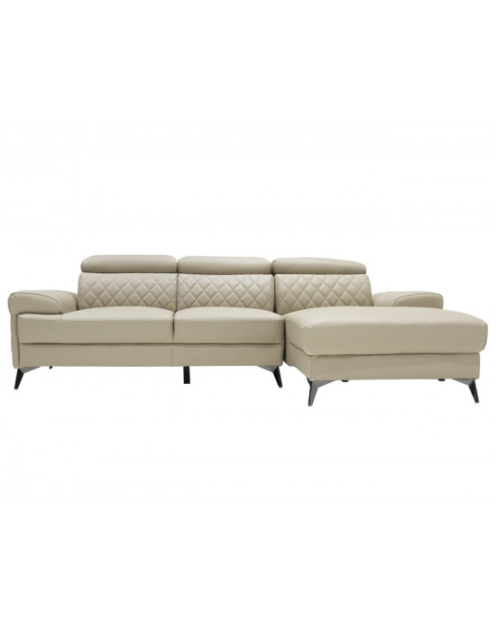 Moscow Full Leather Corner Suite Taupe RHF