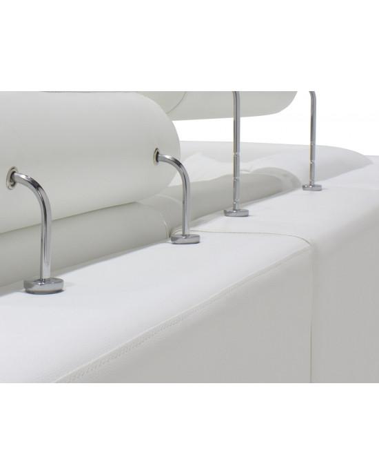 Falco Corner Lounge Suite  White