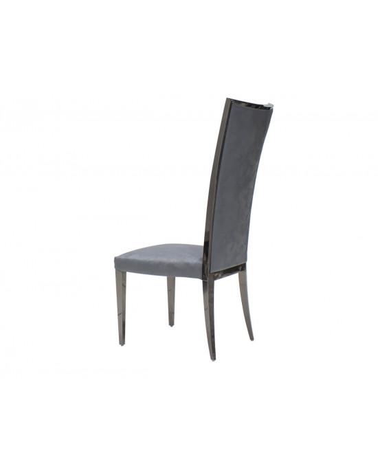 Gucci Chair Dark Grey With Black Chrome