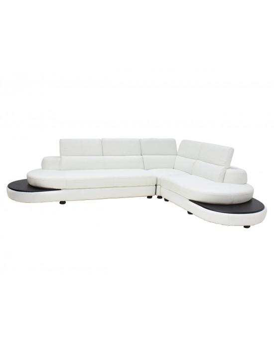 Lugano Corner Genuine Leather Uppers White