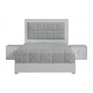 Maya Bedroom Suite White High Gloss With LED Light