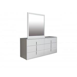 Maya Dresser And Mirror White High Gloss