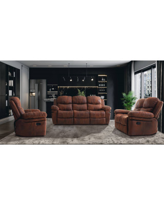 Oleg 3 Piece 5 Motion Lounge Suite With Single Chair Rocker