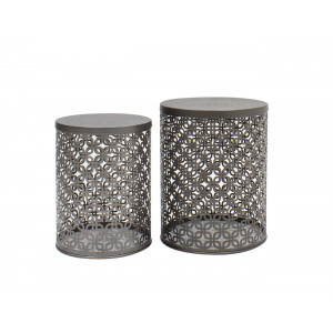 Topaz Set Of 2 Iron Side Table