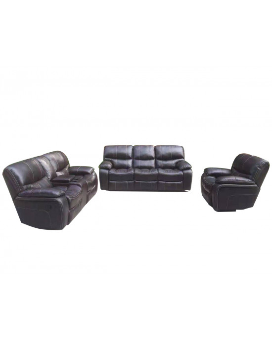 Xena 3 Piece 5 Motion Lounge Suite Brown