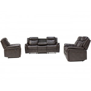 Bellissimo  3 Piece Motion Lounge Suite Brown