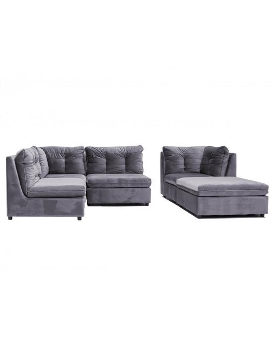 Lusso 5 Piece Modular Lounge Suite Grey