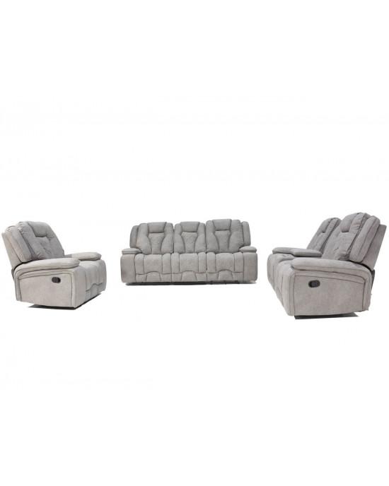 Massimo 3pce Lounge Suite Light  Grey / Camel