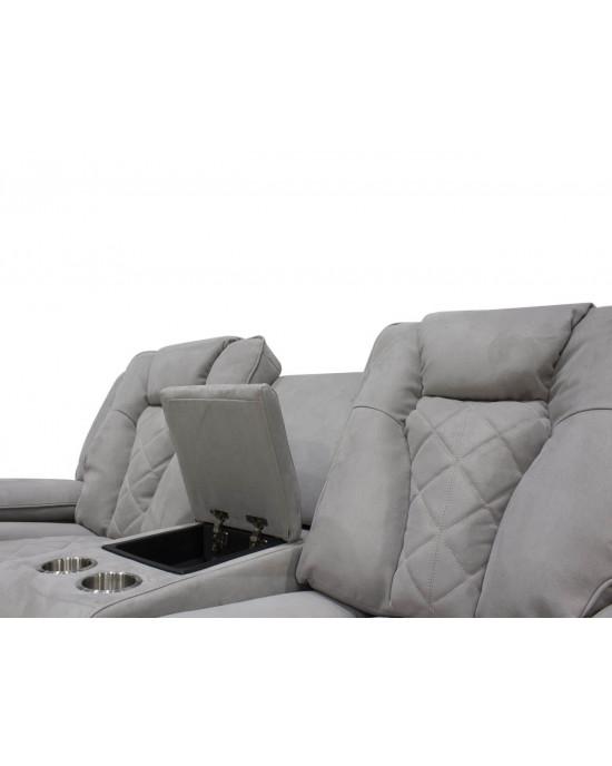 Massimo 3pce Light Grey Fabric