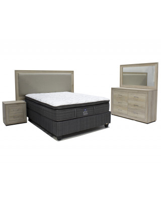 Norway 3pce Bedroom Eco-wood White Wash