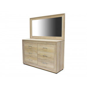 Norway Dresser And Mirror Ecowood White Wash