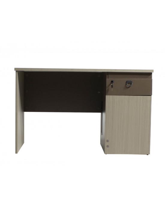 Office Desk H01D-12BS Light Walnut + Kano Grey