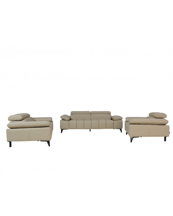 Prague  3 Piece Lounge Suite Taupe