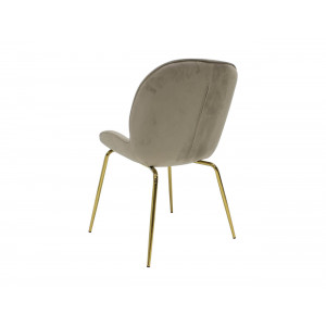 Vino Beige Velvet Chair