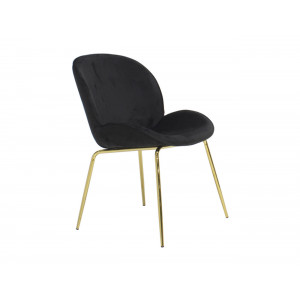 Vino Black Velvet Chair