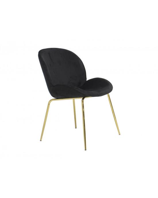 Vino Black Velvet Chair