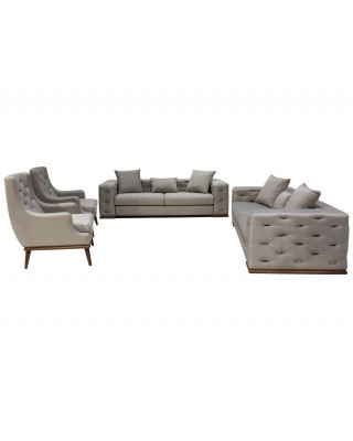 Vintage 4pce Lounge Suite Grey and Silver