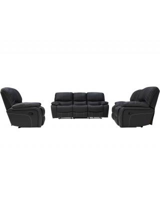 Xena 3 Piece 5 Motion Lounge Suite Dark Grey